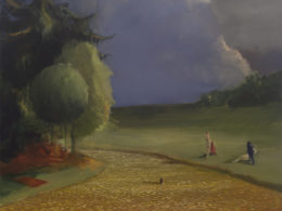 Koupání, 2017, 175x170 cm, olej na plátně