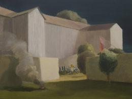 Z kasáren, 2017, 150x170 cm, olej na plátně