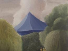 Hřmění, 2017, 90x80cm, olej na plátně