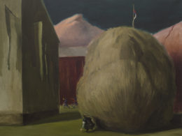 Za křovím, 2017, 150x185 cm, olej na plátně