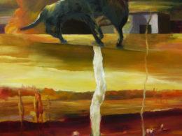 Západ, 2010-11, 220x200 cm, olej na plátně*
