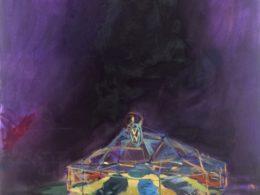 Autosalon, 2015, 90x75 cm, olej na plátně