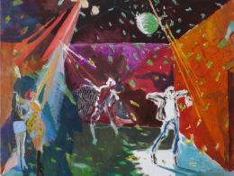 Diskotéka, 2014, 90x70 cm, olej na plátně