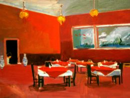 Chinese restaurant, 2013, x, oil on canvas