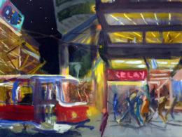 Anděl, 2015, 50x55 cm, olej na plátně