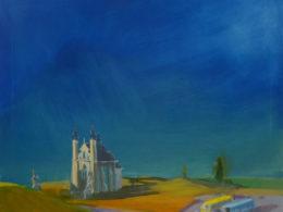 Kostel, 2015, 80x75 cm, olej na plátně*