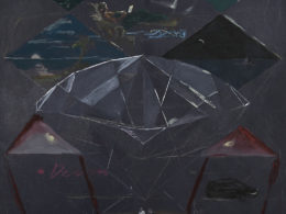 Nocturno 120x180 olej, akryl na plátně 2018