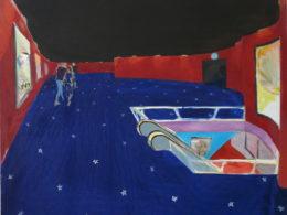 Cinema, 2016, 95x105 cm, oil on canvas