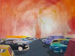 Car park, 2017, 105x95cm, oil on canvas