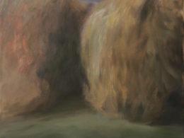 Křoví, 2015, 90x88 cm, olej na plátně*