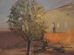 Červenáček a široko, 2014, 45x50 cm, olej na plátně