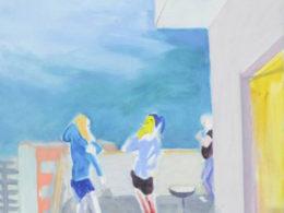 Kuřačky, 2014, 50x60 cm, olej na plátně