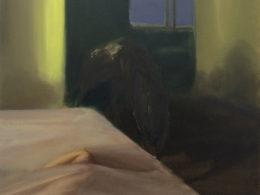 Pes, 2015, 60x60 cm, olej na plátně