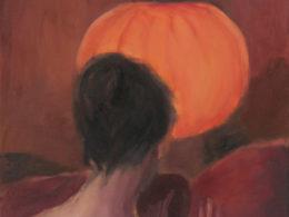 Lampion, 2015, 60x60 cm, olej na plátně