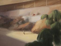 Pobřeží, 2015, 140x120 cm, olej na plátně