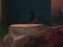 Stůl, 2015, 90x85 cm, olej na plátně