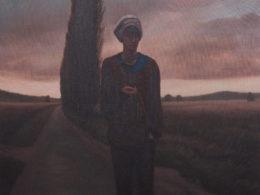Horizont a monolog, 2016, 120x100 cm, olej na plátně*