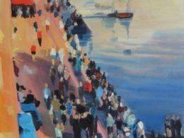 Náplavka, 2014, 120x95 cm, olej na plátně