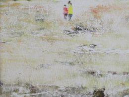 Náhorní plošina (Krkonoše), 2017, 100x65 cm, monotyp z lina, olej
