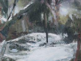 Tyč, 2019, olej na plátně, 75 x 120 cm*